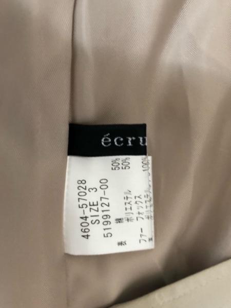 エクリュフィル コート サイズ3 L レディース美品  ベージュ×ライトブラウン