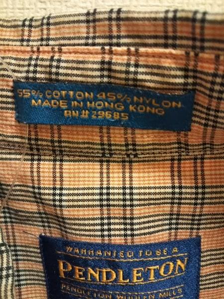 ペンドルトン 半袖シャツ サイズM メンズ美品  白×ライトブラウン×黒 チェック柄