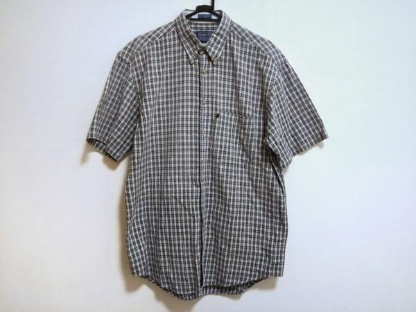 PENDLETON(ペンドルトン) 半袖シャツ サイズM メンズ美品  白×黒×マルチ チェック柄