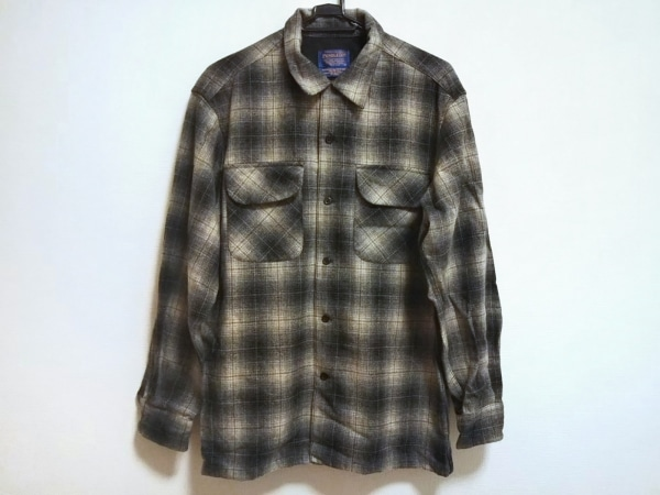 PENDLETON(ペンドルトン) 長袖シャツ サイズM メンズ美品  アイボリー×黒 チェック柄