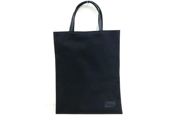 Hamano(ハマノ) トートバッグ美品  黒 ナイロン×レザー