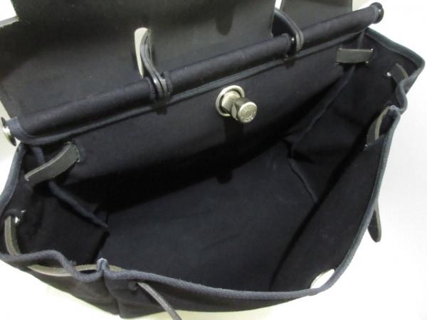 エルメス ハンドバッグ美品  エールバッグMM 黒 トワルオフィシエ×ボックスカーフ