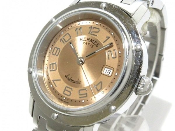 HERMES(エルメス) 腕時計 クリッパー CL5.410 レディース SS ピンク