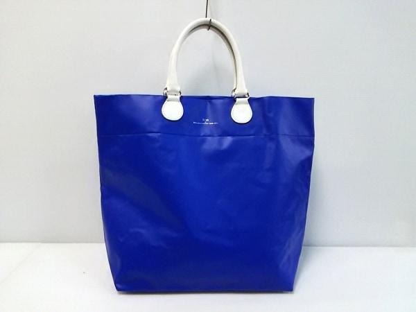 SCYE(サイ) トートバッグ ブルー×白 Masterpiece and Co. PVC(塩化ビニール)×レザー