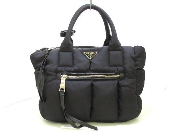 PRADA(プラダ) ハンドバッグ美品  テスートボンバー BN2636 黒 ナイロン