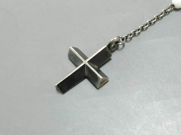 EYEFUNNY(アイファニー) ネックレス シルバー×プラスチック アイボリー クロス