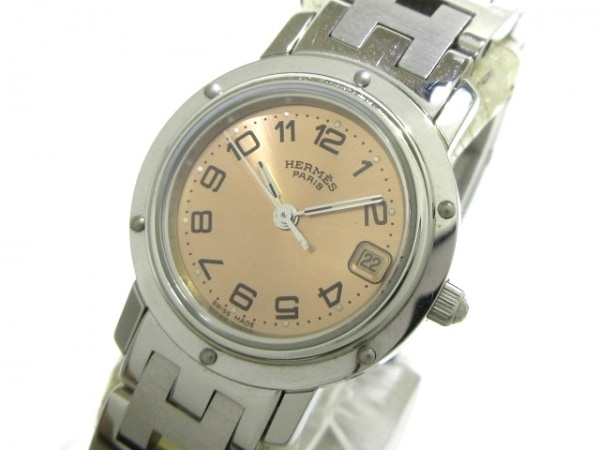 HERMES(エルメス) 腕時計 クリッパー CL4.210 レディース ライトブラウン