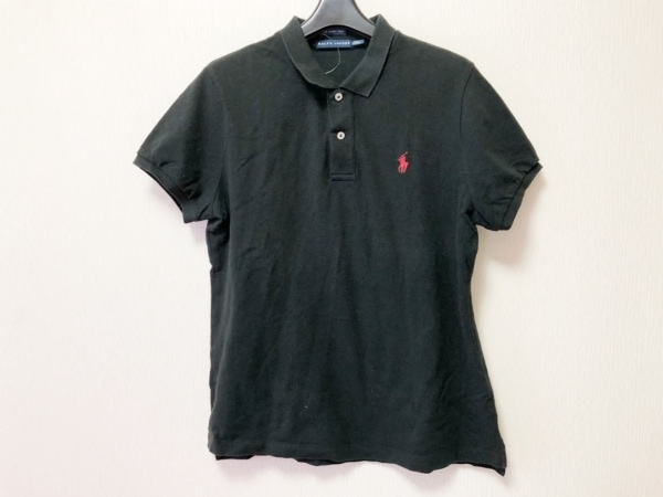 RalphLauren(ラルフローレン) 半袖ポロシャツ サイズXXL XL レディース 黒