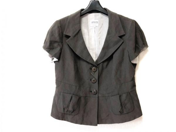 ARMANI(アルマーニ) ジャケット サイズ46 XL レディース ブラウン