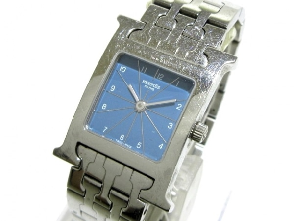 HERMES(エルメス) 腕時計 Hウォッチ HH1.210 レディース ライトブルー×シルバー