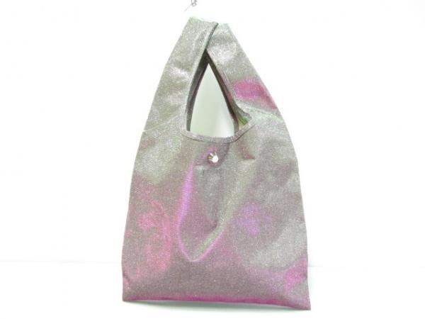 PAMEO POSE(パメオポーズ) トートバッグ ピンク×シルバー ラメ/刺繍 化学繊維