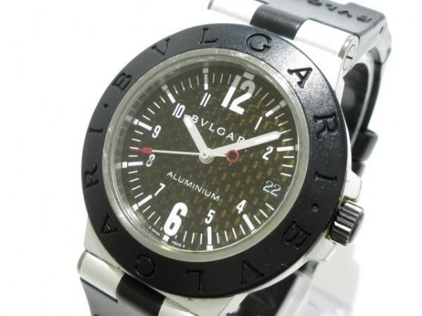 BVLGARI(ブルガリ) 腕時計 アルミニウム AL38TA レディース 黒
