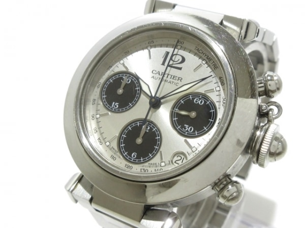 カルティエ 腕時計 パシャCクロノグラフ W31048M7 メンズ SS/クロノグラフ/要OH