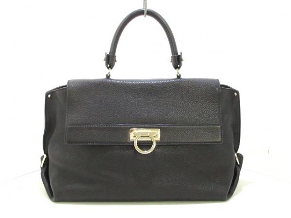 サルバトーレフェラガモ ハンドバッグ美品  ソフィア/ガンチーニ 21A871 黒 レザー