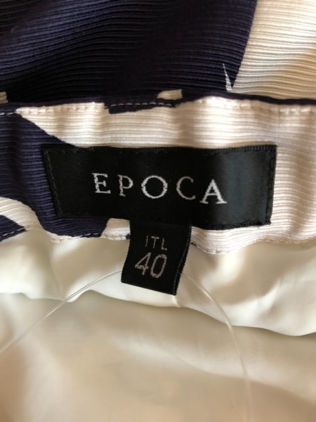 EPOCA(エポカ) ワンピース サイズ40 M レディース美品  アイボリー×ダークネイビー