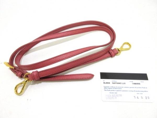 PRADA(プラダ) ハンドバッグ美品  - BL0838 ピンク レザー(サフィアーノリュクス)