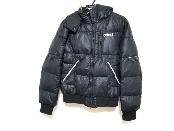 crust(クラスト) ダウンジャケット サイズM メンズ 黒×アイボリー 冬物