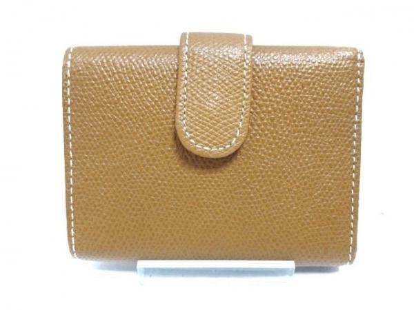 土屋鞄製造所(ツチヤカバンセイゾウショ) 3つ折り財布美品  ブラウン レザー