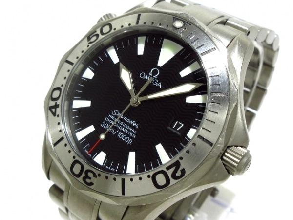 オメガ 腕時計 シーマスタープロフェッショナル300 2231.50 メンズ チタニウム 黒