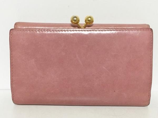 online retailer 9499a aaa69 miumiu(ミュウミュウ) 3つ折り財布 - ピンク リボン レザー