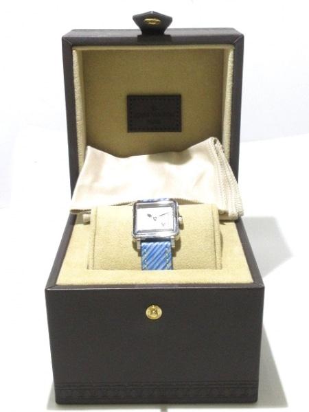 ヴィトン 腕時計 アンプリーズ PM Q32MOB レディース SS/エピレザーベルト シルバー