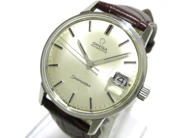 OMEGA(オメガ) 腕時計 シーマスター - メンズ 社外ベルト アイボリー