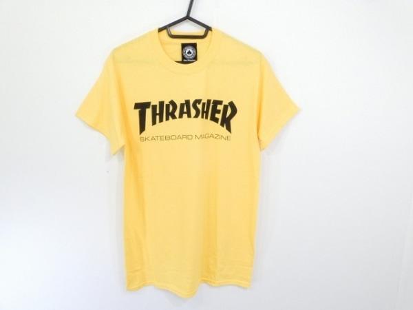 THRASHER(スラッシャー) 半袖Tシャツ サイズS メンズ イエロー×黒