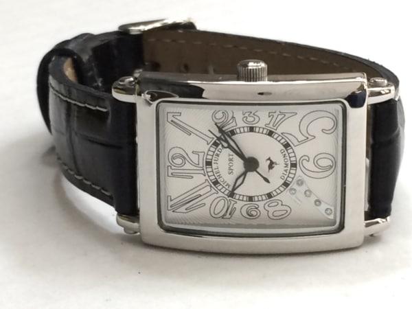 michel Jurdain(ミッシェルジョルダン) 腕時計 SL-3000A レディース 革ベルト 白
