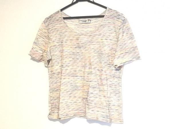 ミッソーニスポーツ 半袖Tシャツ サイズ44 L レディース イエロー×マルチ
