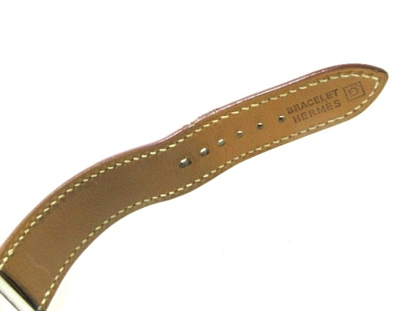 HERMES(エルメス) 腕時計 ベルトウォッチ BE1.210 レディース 革ベルト/□D 白