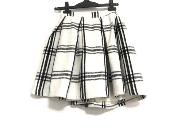 シークレットハニー スカート サイズ2 M レディース美品  白×黒 チェック柄