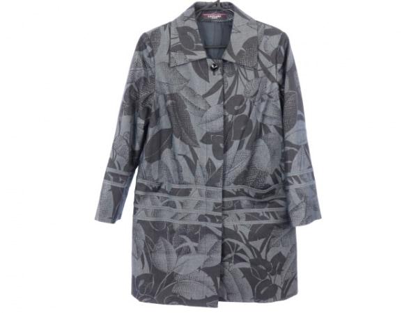 LEONARD(レオナール) コート サイズ40 M レディース新品同様  黒×グレー 春・秋物