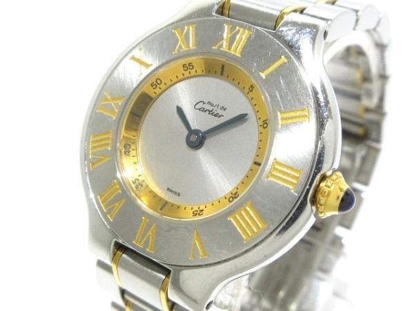 Cartier(カルティエ) 腕時計 マスト21SM W10073R6 レディース SS×K18YG シルバー