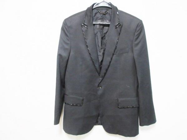 JOHN RICHMOND(ジョンリッチモンド) ジャケット サイズ50 メンズ 黒 ビーズ