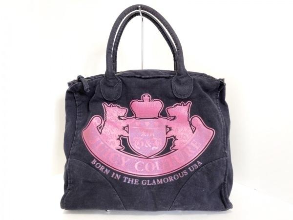 JUICY COUTURE(ジューシークチュール) ショルダーバッグ ネイビー×ピンク キャンバス