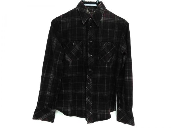 SHELLAC(シェラック) 長袖シャツ サイズ44 L メンズ ボルドー×黒×グレー チェック柄