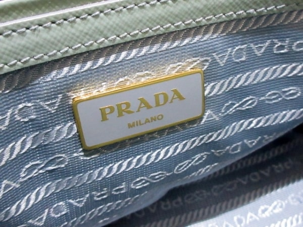 PRADA(プラダ) ハンドバッグ - BN2316 ライトブルー サフィアーノヴェルニ(レザー)