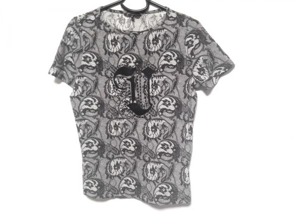 バレンザスポーツ 半袖Tシャツ サイズ40 M レディース 黒×白 ラインストーン