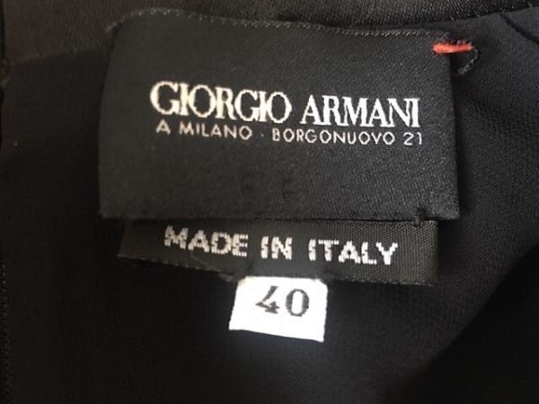 ジョルジオアルマーニ ワンピース サイズ40 M レディース美品  黒 肩パッド