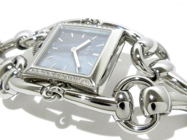 グッチ 腕時計 シニョーリア 116.3 レディース ダイヤモンドベゼル/シェル文字盤