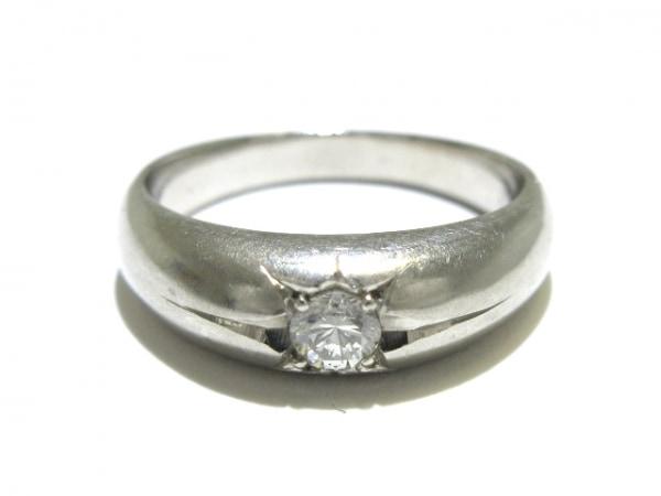 ノーブランド リング Pt900×ダイヤモンド クリア 総重量:7.4g/0.752刻印
