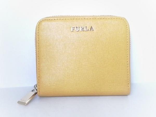 bbd7724b578f FURLA(フルラ) 2つ折り財布美品 イエロー ラウンドファスナー レザーの ...