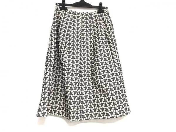 JOCOMOMOLA(ホコモモラ) スカート サイズ42 L レディース美品  ネイビー×アイボリー