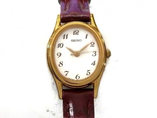 SEIKO(セイコー) 腕時計美品  1N01-0AW0 レディース 革ベルト アイボリー