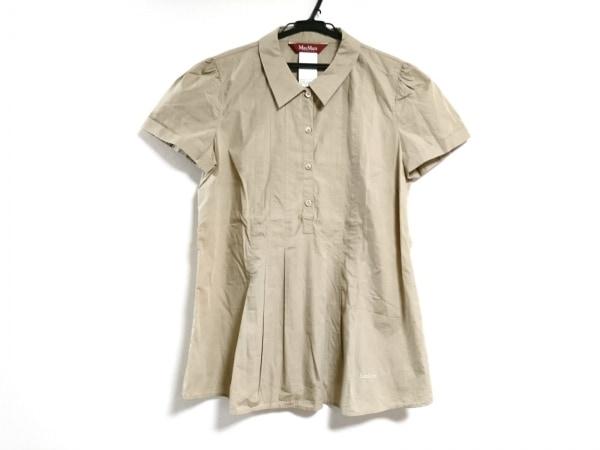 マックスマーラスタジオ チュニック サイズ46 XL レディース美品  ベージュ シャツ