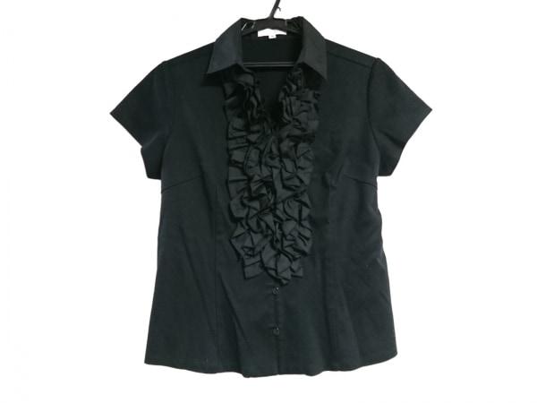 ナラカミーチェ 半袖シャツブラウス サイズ4 XL レディース美品  黒 フリル