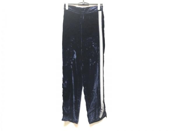 aviu(アヴィウ) パンツ サイズ42 L レディース ダークネイビー×グレー×白