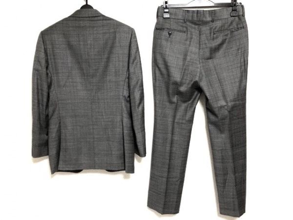 エムエフエディトリアル シングルスーツ サイズY5 メンズ グレー×ブラウン×黒