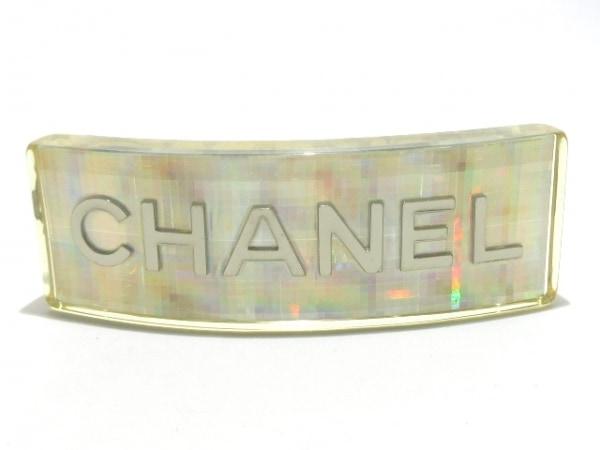 CHANEL(シャネル) バレッタ美品  プラスチック×金属素材 シルバー ホログラム