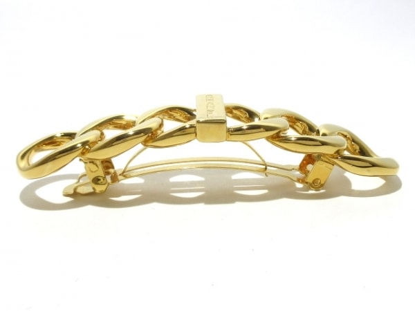 CHANEL(シャネル) バレッタ美品  金属素材 ゴールド